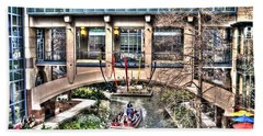 Bath Towel featuring the photograph San Antonio Riverwalk by Deborah Klubertanz