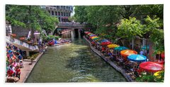 San Antonio Riverwalk Hand Towel