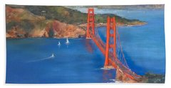 San Francisco Bay Bridge Hand Towel