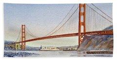 San Francisco California Golden Gate Bridge Hand Towel