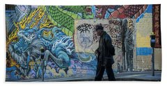 San Francisco Chinatown Street Art Bath Towel by Juli Scalzi