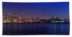 San Francisco Dusk Panorama Bath Towel