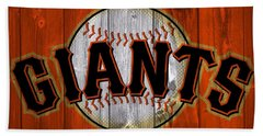San Francisco Giants Barn Door Bath Towel by Dan Sproul