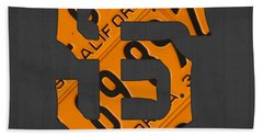 San Francisco Giants Baseball Vintage Logo License Plate Art Hand Towel by Design Turnpike