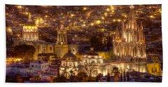 San Miguel De Allende At Night Bath Towel