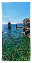 San Pietro Island - Le Colonne Hand Towel by Antonio Scarpi