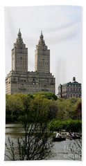 San Remo Towers Nyc Hand Towel by Christiane Schulze Art And Photography