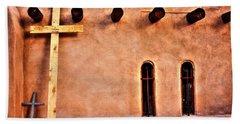 Santuario Four Crosses Hand Towel by Lanita Williams