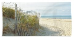 Hand Towel featuring the photograph Sand Beach Ocean And Dunes by Brooke T Ryan