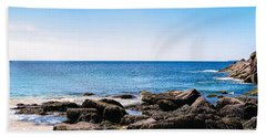 Sand Beach Rocky Shore   Hand Towel