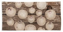 Hand Towel featuring the photograph Sand Dollar Collection by Art Block Collections
