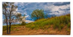 Sand Dunes At Indian Dunes National Lakeshore Hand Towel