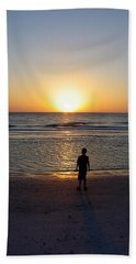 Hand Towel featuring the photograph Sand Key Sunset by David Nicholls