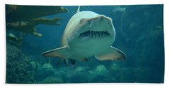 Hand Towel featuring the photograph Sand Shark by Robert Meanor