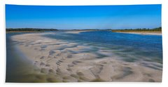 Sandbars On The Fort George River Bath Towel