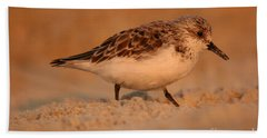 Bath Towel featuring the photograph Sanderling Sunrise by John F Tsumas