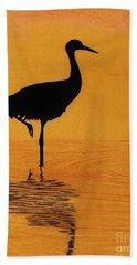 Sandhill - Crane - Sunset Bath Towel