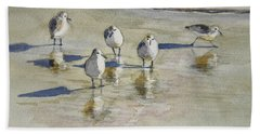 Sandpipers 2 Watercolor 5-13-12 Julianne Felton Hand Towel