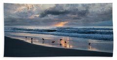 Sandpipers In Paradise Hand Towel by Betsy Knapp