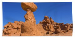 Sandstone Hoodoos In Goblin Valley  Bath Towel