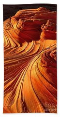 Sandstone Silhouette Hand Towel by Adam Jewell