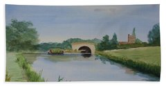 Bath Towel featuring the painting Sandy Bridge by Martin Howard