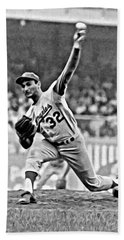 Sandy Koufax Throwing The Ball Bath Towel