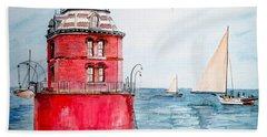 Sandy Point Lighthouse 2 Hand Towel