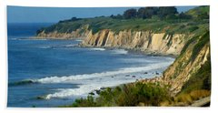 Santa Barbara Coast Hand Towel by Ernie Echols