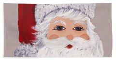 Santa Hand Towel by Barbara McDevitt