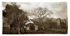 Santa Barbara Mission California Circa 1890 Bath Towel