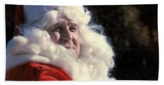 Hand Towel featuring the photograph New Orleans Santa Claus John Goodman In Louisiana by Michael Hoard