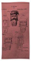Santa Claus Mask Patent Hand Towel