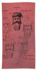 Santa Claus Mask Patent Red Hand Towel