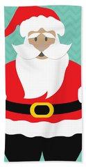 Santa Claus With Medium Skin Tone Hand Towel