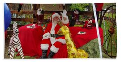 Santa Clausewith The Animals Bath Towel