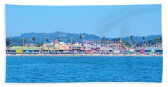 Santa Cruz Boardwalk  Hand Towel