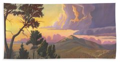 Santa Fe Baldy - Detail Hand Towel by Art James West