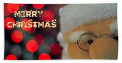 Santa  Hand Towel by Spikey Mouse Photography