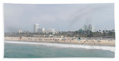 Santa Monica Beach, Santa Monica, Los Hand Towel by Panoramic Images