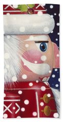 Santa Nutcracker Bath Towel