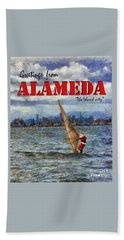 Alameda Santa's Greetings Bath Towel