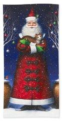 Santa's Cat Hand Towel