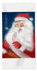 Santa's List Hand Towel