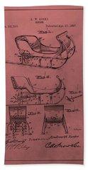 Santa's Sleigh Patent 1897 Hand Towel