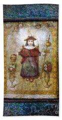 Santo Nino De Atocha Bath Towel by Savannah Gibbs