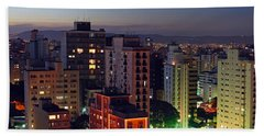 Sao Paulo Downtown At Dusk Bath Towel
