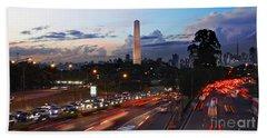 Sao Paulo Skyline - Ibirapuera Hand Towel