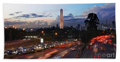 Sao Paulo Skyline - Ibirapuera Bath Towel