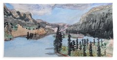 Saskatchewan River Crossing - Icefields Parkway Hand Towel